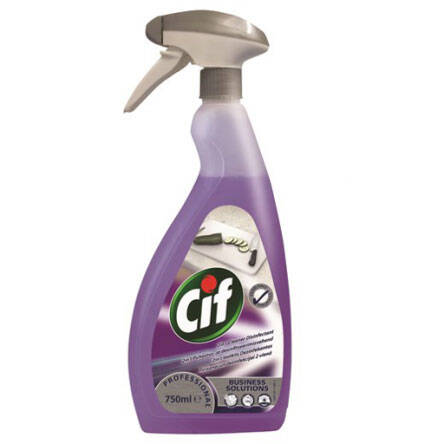Spray do dezynfekcji Cif Professional 2in1 Cleaner Disinfectant 750 ml