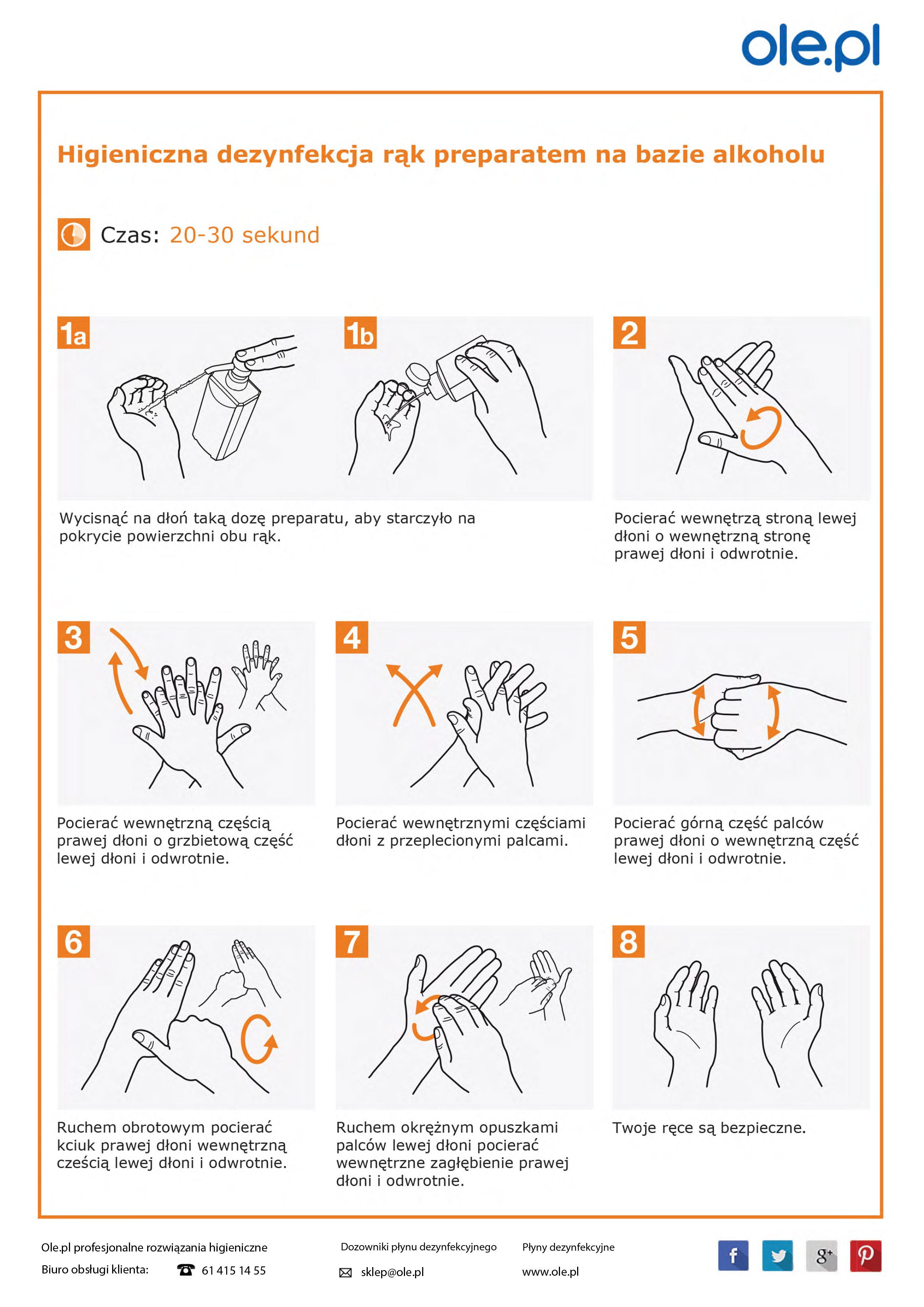 Instrukcja mycia rąk - oświata, handel, zakłady i instytucje
